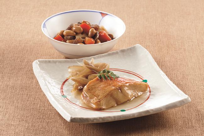 ニチレイカロリーナビ 金目鯛の煮付けと五目豆