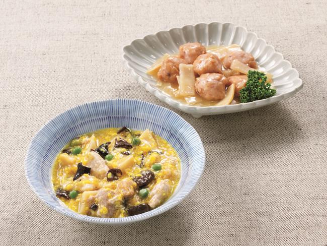ニチレイカロリーナビ 豚肉と筍の卵とじ風セット